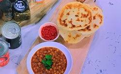 John Torode's CHANA MASALA with FLATBREAD using store cupboard ingredients on This Morning