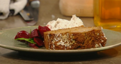Tom Brown's Smoked mackerel pate with treacle bread and beetroot pickle on Saturday Kitchen