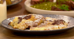 Mike and  Maddie's ricotta and chocolate cookie dough with cream on Ready Steady Cook