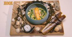 Sally Abé hook fish course on the Great British Menu