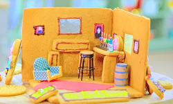 James Blunt's gingerbread pub biscuit scene on The Great Celebrity Bake Off for SU2C