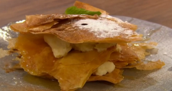Akis and  Matthew's mille-feuille cheesecake on Ready Steady Cook