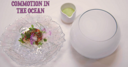 Kerth Gumbs' Commotion In The Ocean fish course on the Great British Menu