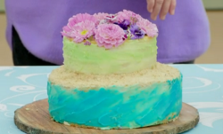Patsy's ocean garden cake on The Great Celebrity Bake Off for SU2C