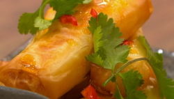 Akis' Filo parcels with feta and honey on Ready Steady Cook