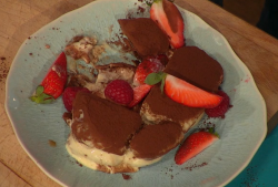 Simon Rimmer's tiramisu with strawberries on Sunday Brunch
