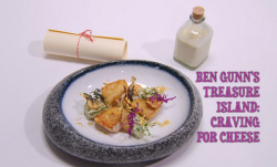 Ross Bryans Ben Gunn's Treasure Island fish course on the Great British Menu