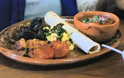 Gordon Ramsay's Mexican style full English breakfast with spicy beans on Gordon, Gino and Fred:  ...