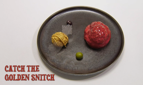 Amy's Catch The Golden Snitch dessert on the Great British Menu