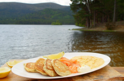 James Martin dill pancakes with smoked salmon and scrambled eggs on James Martin's Islands ...