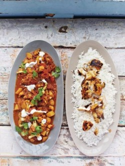 Jamie's fish tikka curry with haddock,  cauliflower and rice on on Jamie: Keep Cooking and ...