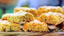 Buddy Oliver's flapjack biscuits with golden syrup and porridge oats on Jamie: Keep Cookin ...