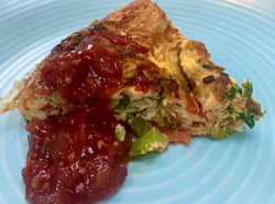 Simon Rimmer's vegetable frittata with a spicy tomato chutney on Sunday Brunch