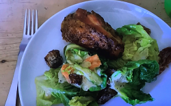 Jamie Oliver's roast chicken Caesar salad with smoky bacon croutons on  Jamie: Keep Cookin ...