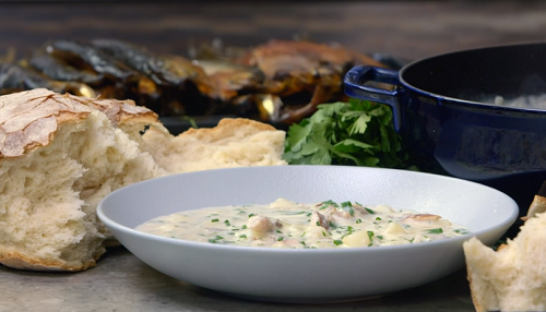 James Martin Manx Kippers Soup With Homemade Bread On James Martin S Islands To Highlands Sharingboost