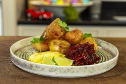 Nathan Outlaw's Lobster Fritters, Chilli Jam and Roasted Garlic Aioli on James Martin̵ ...