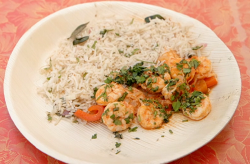 Thomas and Sandy's rice with prawns main course on Masterchef 2020 in Mauritius