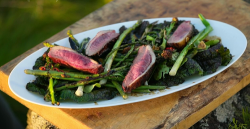 James Martin roast duck with hoisin sauce and asparagus on James Martin's Islands To Highlands