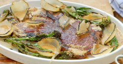 James Martin BBQ rump steak with onions, broccoli and a whiskey mustard sauce on James Martin's  ...