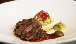 Michael Smith Skye venison with remoulade and mushrooms on James Martin's Islands To Highlands