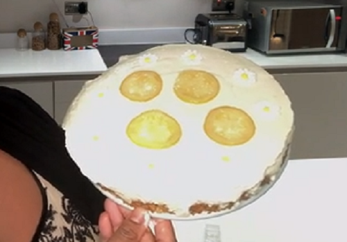 Alison Hammond's lemon cheesecake made using a recipe by Phil Vickery on this Morning