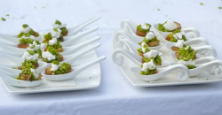 Nick Nairn and Dougie Vipond's Italian style bruschetta with broad beans, goats cheese, ga ...