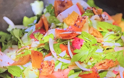 Ainsley Harriott's Jordanian fattoush salad on Ainsley's Mediterranean Cookbook