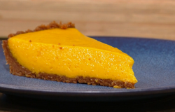 Samin Nosrat's  Alphonso mango pie on  Saturday Kitchen