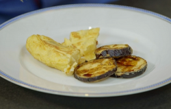 Eugen's  Spanish tortilla with fried aubergines and honey on Ainsley's Mediterranean ...