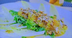 Ainsley Harriott's charred orange and spiced almond salad on Ainsley's Mediterranean ...