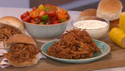 Phil Vickery's BBQ pulled pork with salad on This Morning