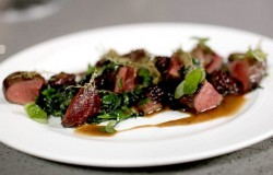 Nick Nairn's Wild mallard duck with foraged greens and with a bramble and gin  sauce on Th ...