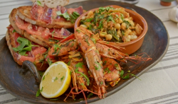 Ainsley Harriott's three  classic Spanish tapas (chickpeas and spinach, ham and tomato wit ...