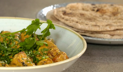 Nick Nairn and Dougie Vipond's vegan spiced roast root vegetable curry with chapatis on The Grea ...
