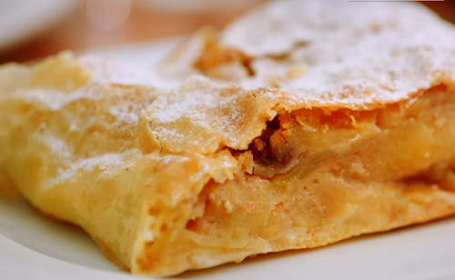 Viennese apple Strudel on Remarkable Places to Eat with Fred and Rachel Khoo