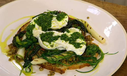 Stephen Terry's Lentils with Burrata and Croutons on James Martin's Saturday Morning