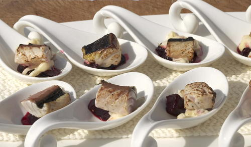 Nick Nairn and Dougie Vipond's mackerel with sweet and sour beetroot, mayonnaise and apple slaw  ...
