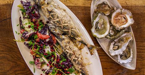Richard Corrigan's baked mackerel with oysters and a radicchio salad  on James Martin̵ ...