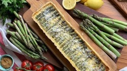 Phil Vickery's  asparagus flan with Gruyere cheese on This Morning