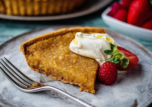 Simon Rimmer S Salted Treacle Tart And Custard On Sunday Brunch Sharingboost