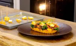 Daniel Clifford's Sweet Potato, Chilli Marinated Tofu, Blood Orange and Kale on James Mart ...