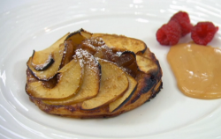 Thomas Skinner's cinnamon and apple tart with toffee sauce on Celebrity Masterchef 2020