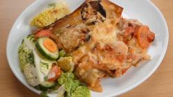 John Barnes and Judy Love's aubergine lasagna on Celebrity Masterchef 2020