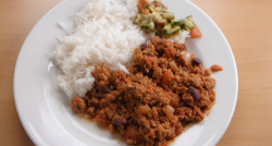 Thomas and Mile's beef chilli with rice on Celebrity Masterchef 2020