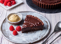 Simon Rimmer's Chocolate Dulce De Leche Tart with Salted Caramel Ice Cream on Sunday Brunch