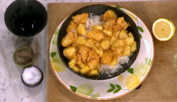 Gok Wan's lemon chicken with honey and pineapple on This Morning