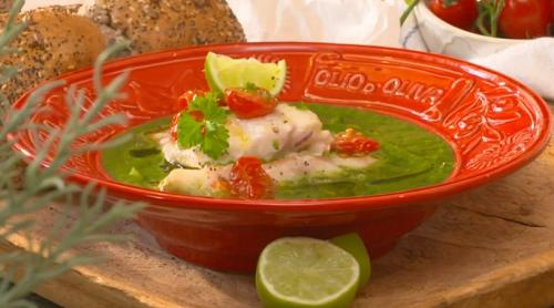 Charlene Ashong's cod in green broth on John and Lisa's Weekend Kitchen