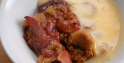 John and Judy's apple and berries fruit crumble on Celebrity Masterchef 2020