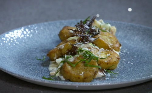Nick Nairn's  gnocchi with smoked haddock and wild greens on The Great Food Guys