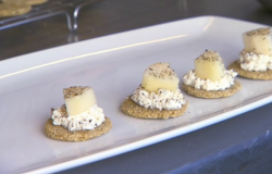 Nick Nairn and Dougie Vipond's oat cakes with cream cheese and pear on The Great Food Guys